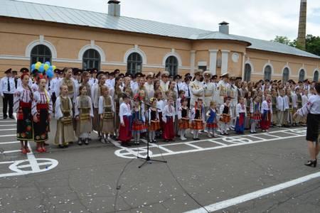 Хор Веснянка прийняв участь в урочистій церемоніі  выпуску в Київському військовому лицеї ім. Богуна.